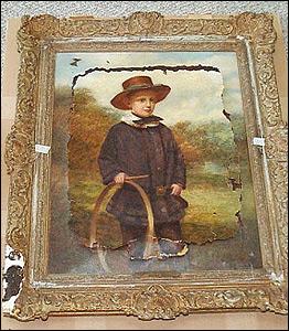 damaged Renoir painting